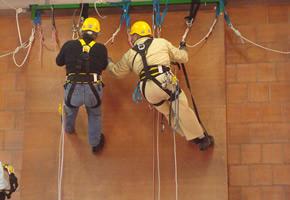 Pulizie e lavori in altezza con attrezzature professionali